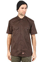 DICKIES 1574 Work S/S Shirt dark brown