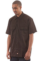 DICKIES Short Sleeved Work S/S Shirt dark brown
