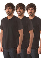 DICKIES V Neck 3 Pack S/S T-Shirt black