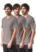 DICKIES V Neck 3 Pack S/S T-Shirt drk grey mel