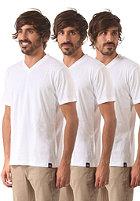 DICKIES V Neck 3 Pack S/S T-Shirt white