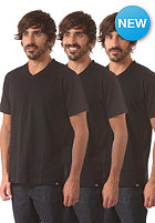 DICKIES V Neck S/S T-Shirt 3 Pack black