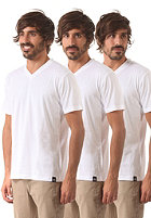 DICKIES V Neck S/S T-Shirt 3 Pack white