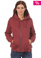 Womens Patti Hooded Zip Sweat ox-blood
