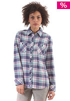 DICKIES Womens Plaid Flannel Shirt sl blueberry