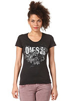 DIESEL Womens Manga AA S/S T-Shirt schwarz