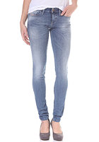 DIESEL Womens Skinzee Low Denim Pant light blue stone washed
