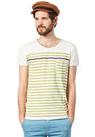 DR. DENIM Dale S/S T-Shirt green stripe