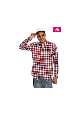 DR. DENIM Laurence L/S Shirt red