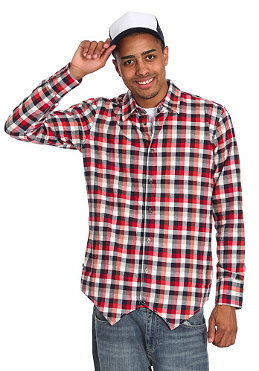 DR. DENIM Laurence L/S Shirt red check