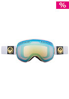 DRAGON APXS Snow Goggle white gold ionized inkl. amber lens