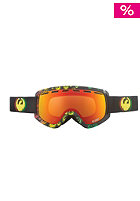 DRAGON D2 Snow Goggle rasta icon red ion