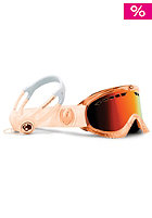 DRAGON DXS Goggle translucent Skullcandy collection candy orange red ionized