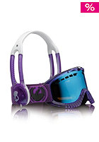 DRAGON DXS Goggle translucent Skullcandy collection purple haze blue steel