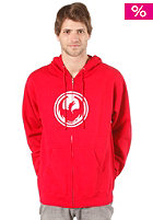 DRAGON Icon Hooded Zip Sweat red/white