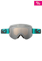 DRAGON NFX Snow Goggle pop Teal jet ionized inkl. amber lens