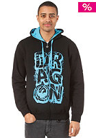 DRAGON Super Stack Hooded Zip Sweat black
