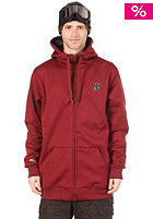 ELECTRIC EG Long Fit Hooded Zip Sweat maroon