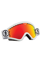 ELECTRIC EGV Gloss White Goggles bronze/red chrome