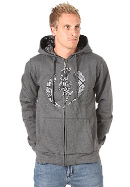 ELECTRIC Logo Fill Basic Hooded Zip Sweat charcoal heather