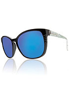 ELECTRIC Womens Rosette Sunglasses blue green splatter/grey blue chrome