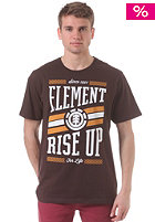 ELEMENT Clique S/S T-Shirt walnut