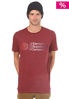 ELEMENT Industry S/S T-Shirt red heather