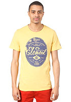 ELEMENT Oval F S/S T-Shirt vintage yellow