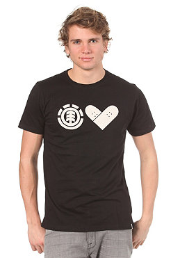 ELEMENT Skate With Heart S/S T-Shirt black