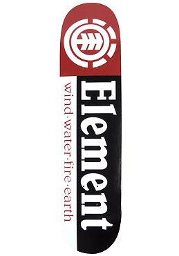 ELEMENT SKATEBOARDS Team Section black/red Deck 7.50