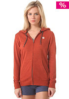 Womens Lunar Hooded Zip Sweat rust