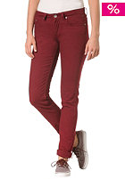 ELEMENT Womens Sticker Denim Pant crimson red