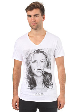 ELEVEN PARIS JB V-Neck S/S T-Shirt white