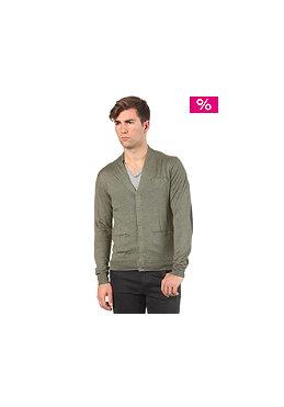 ELEVEN PARIS L2 Basic Patch Cardigan Sweatshirt kaki chine