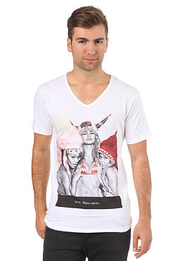 ELEVEN PARIS N25 V-Neck S/S T-Shirt white