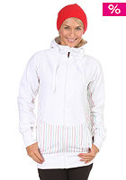 ELEVEN Womens Lines Hooded Zip Sweat 2012 white