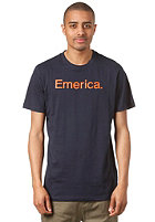 EMERICA Pure 12 S/S T-Shirt navy/orange