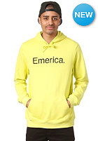 EMERICA Pure Solid Hooded Sweat lime