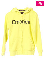 EMERICA Pure Solid Hooded Zip Sweat lime
