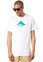 EMERICA Triangle 7.0 S/S T-Shirt white/blue