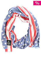 ERFURT Double Print Star Scarf navy blue