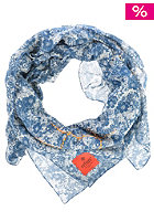 ERFURT Print Embroidery Scarf navy blue