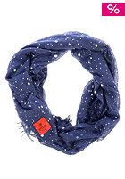 ERFURT Womens Silver Printed Scarf navy blue