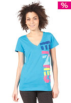 ETNIES All City S/S V-Neck turquoise