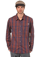 ETNIES Bakersfield Woven L/S Shirt orange/navy