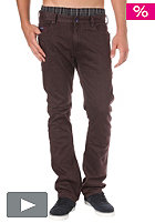 ETNIES Calloway Slim Fit Denim Pant burgundy
