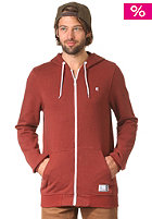 Classic Hooded Zip Sweat red/white