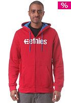 Corporate Hooded Zip Sweat red