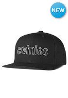 ETNIES Corporate Outline Snapback Cap black/black