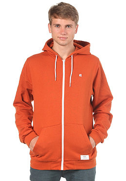 ETNIES Knit Hooded Zip Cardigan rust